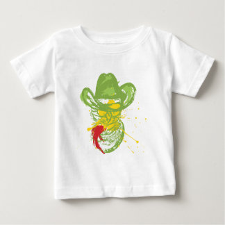 Grunge Cowboy Cat Portrait Baby T-Shirt