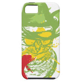 Grunge Cowboy Cat Portrait iPhone 5 Case