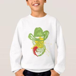 Grunge Cowboy Cat Portrait Sweatshirt