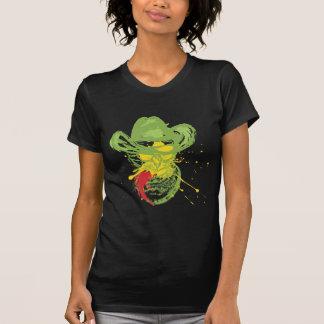 Grunge Cowboy Cat Portrait T-Shirt