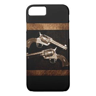 Grunge Cowboy Retro Western Country Pistols iPhone 7 Case