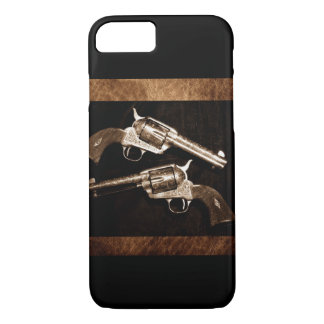 Grunge Cowboy Retro Western Country Pistols iPhone 8/7 Case