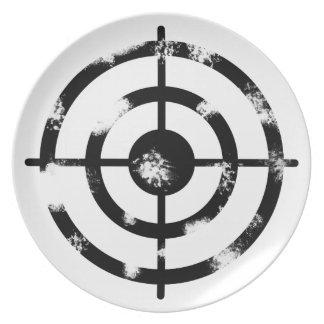 Grunge Crosshair Dinner Plates