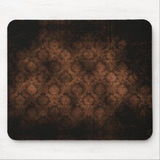 Grunge Damask (Sepia) Mousepad