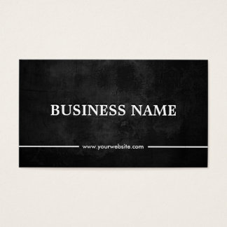 Grunge Dark Martial Arts Business Card