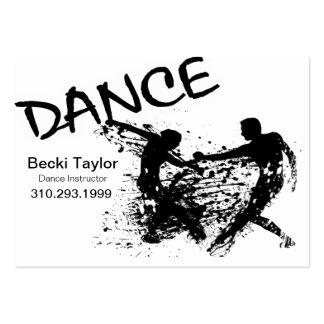 Grunge de danse - chorégraphe, danseur, instructeu modèle de carte de visite