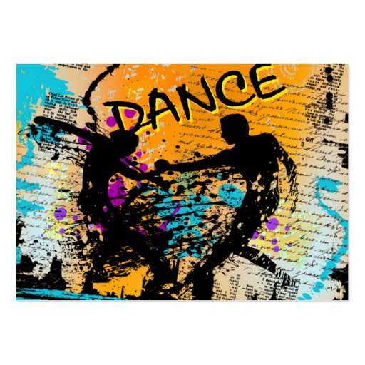 Grunge de danse - chorégraphe, danseur, instructeu cartes de visite professionnelles