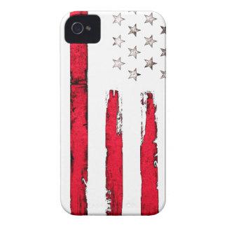 Grunge de rouge de drapeau américain coques iPhone 4