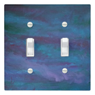 Grunge Decor   Turquoise Teal Blue Violet Purple Light Switch Cover
