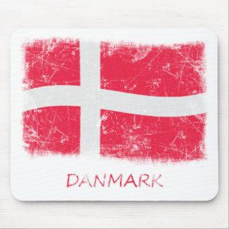 Grunge Denmark Flag Mouse Pad