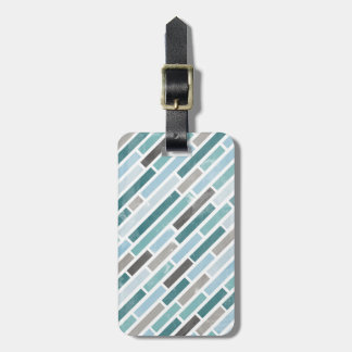 Grunge Diagonal Stripe Pattern Luggage Tag