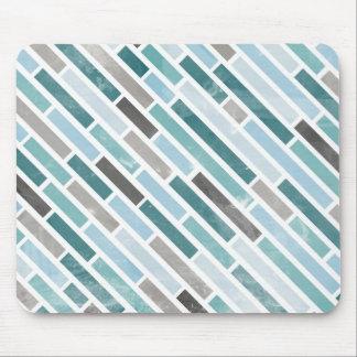 Grunge Diagonal Stripe Pattern Mouse Pad