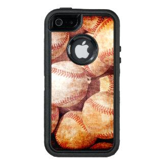 Grunge Dirty Vintage Worn Baseball Sport Balls OtterBox iPhone 5/5s/SE Case