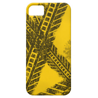 Grunge distressed black tire track road marking iPhone 5 cases