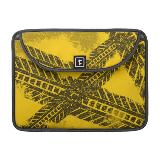 Grunge distressed black tire track road marking sleeve for MacBook pro