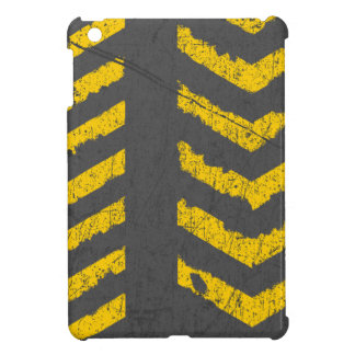 Grunge distressed yellow road marking cover for the iPad mini