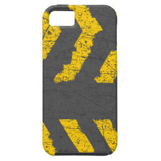 Grunge distressed yellow road marking iPhone 5 covers