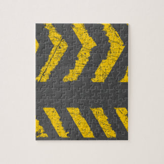 Grunge distressed yellow road marking jigsaw puzzle