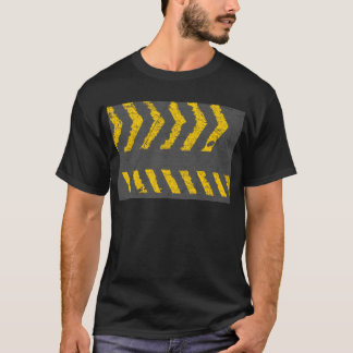 Grunge distressed yellow road marking T-Shirt