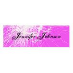 Grunge Ditressed Hot Pink 411 Skinny Profile Cards Business Card