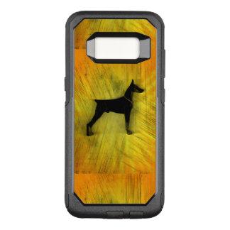 Grunge Doberman Pinscher Silhouette OtterBox Commuter Samsung Galaxy S8 Case