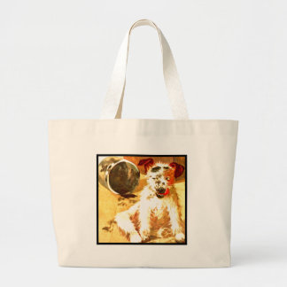 Grunge Dog Large Tote Bag