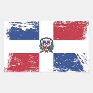 Grunge Dominican Republic Flag Sticker