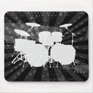 Grunge Drums Black Burst Mouse Pad