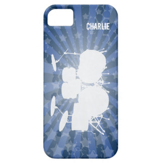 Grunge Drums Blue Burst iPhone 5 Cover