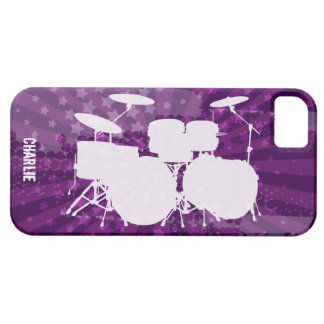 Grunge Drums Purple Burst Case For The iPhone 5
