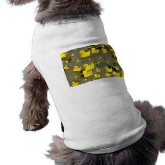 Grunge Ducks Dog Tshirt
