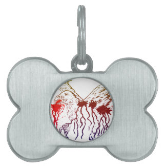 Grunge Eagle Sketch2 Pet ID Tags