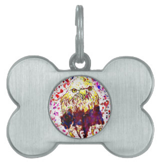 Grunge Eagle Sketch Pet ID Tags