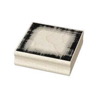Grunge Fabric Border Rubber Art Stamp