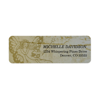 Grunge Fairy Return Address Labels