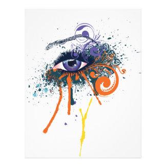 Grunge Fashion Eye Letterhead Design