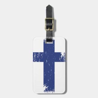 Grunge Finland Flag Luggage Tag