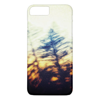 Grunge fir tree silhouette on sunset sky Case-Mate iPhone case