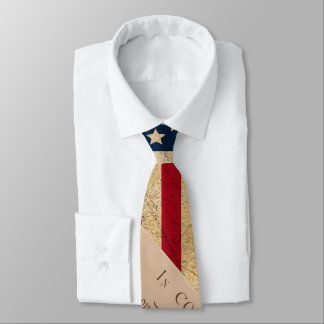 Grunge Flag and the Declaration of Independence Tie