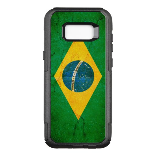 Grunge Flag of Brazil OtterBox Commuter Samsung Galaxy S8+ Case