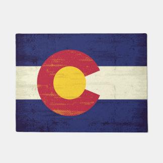 Grunge Flag of Colorado Doormat
