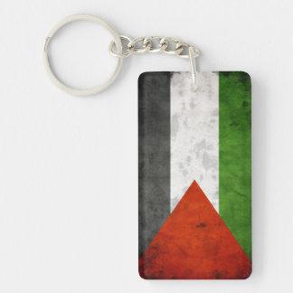 Grunge Flag of Palestine Keychain