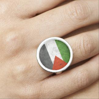 Grunge Flag of Palestine Rings