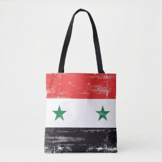 Grunge Flag of Syria. Tote Bag