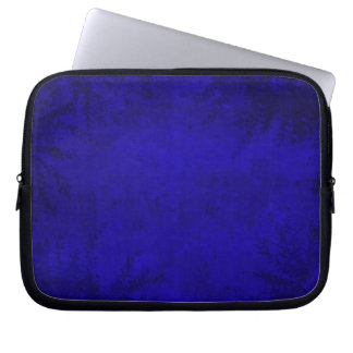 Grunge Floral Blue Illustration Laptop Sleeve