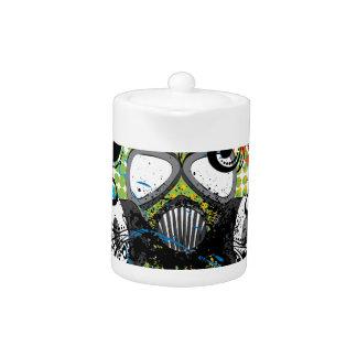 Grunge Floral Gas Mask2