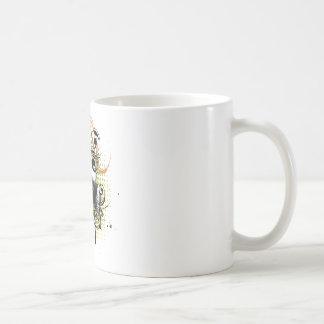 Grunge Floral Gas Mask2 Coffee Mug