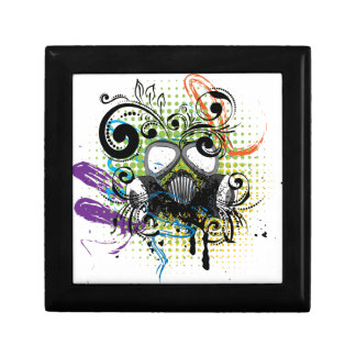 Grunge Floral Gas Mask2 Gift Box