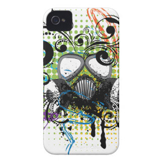 Grunge Floral Gas Mask2 iPhone 4 Case-Mate Case
