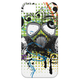 Grunge Floral Gas Mask2 iPhone 5 Case